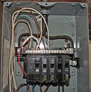 grounding and bonding mountaineer inspection services Wiring an Electrical Service Panel bad sub panel 296x300